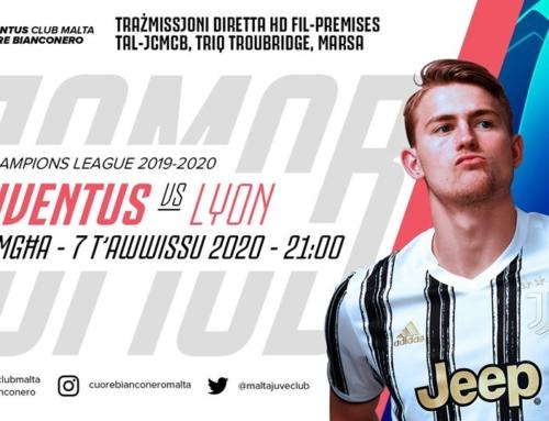 Avviż dwar l-attendenza għal-logħba kontra Olympique Lyonnais